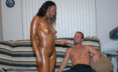 Round And Brown jennay Hot bikini ebony babe gets out of that bikini in a hurry to show off that phat ass