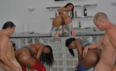 Round And Brown mecca Amazing mecca and her ebony lixx girl get fucked on the bar table in these hot club fucking pics