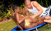 Round And Brown kenya Banging b ikini babe gets her black ass perky titty body rammed and creamed after a wet swim in this update