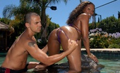 Round And Brown lala Super mega ass black babe lala sucks mody dick in these hot poolside resort fucking pics