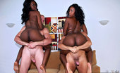 Round And Brown july 2 hot booty shorts ebony babes get picked up at the beach in this hot bikini double team grouo sex 4some cumshot pic set