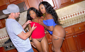 Round And Brown yasmine 2 hot ass black ass teens fucked both in these kitchen reality 3some sex