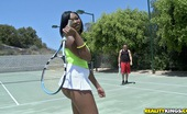 Round And Brown stacy Sexy fucking black ass teen fucked hard in these hot tennis court sex reality fucking