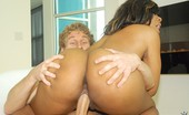 Round And Brown serenity Sexy babe with big round ass perky tits gets fucked hard