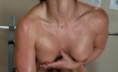 Fucking Machines Gym babe sweaty oiled up and machine fucked n sybian riding
