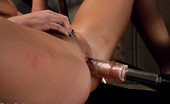 62044 Fucking Machines Double Updates: Upstairs Sybian orgasms in the fancy lounge, downstairs dungeon a beautiful blond uses clothespins and The Snake to reach cum space.