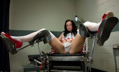 62235 Fucking Machines Hot nurse sex! Nipples clamped w/surgical while her pussy is pounded, & gyno bench spreads her wide for fucking w/inflatable, pulsing mechanical cock.