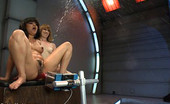 Fucking Machines Pussy Carnival! Annie Cruz trains a hot new rookie in pussy squirting by shooting distance & soaking our cum shields with loads of girly juice