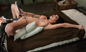 62244 Fucking Machines Sexy porn star fucked, nipple clamps rope tied around her body so every jerk of the rope pulls her nipples, machines work her pussy to a creamy mess!