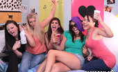 Dare Dorm rilynn Fucking horny college teens ride cock and get cumfaced after a dorm room spin the bottle sex party