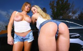 Big Naturals anita 2 hot big tits fucking amazing voluptuous bikini babes fuck eachother on their wet soapy ride in this car wash fuck pic set