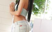 64164 Take a peek up the skirt of dreamy little teen Catie Minx