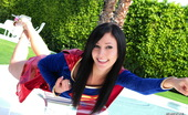 Mild mannered nerd Catie Minx reveals her super naughty powers as Supergirl