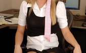 Alison Angel poses in her office