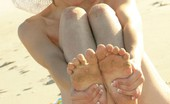Ariel Rebel naked on the beach
