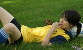 Amateur teen playing soccer!