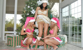 We Live Together dee These 3 muff diving princesses are all dressed up for the hollidays in their hot santa outfits