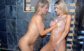 We Live Together sandi Wet hot ass blondes sandy and sammie share a dildo fuck in the shower in these hot licking and fing fucking screaming pics and big lesbo movie