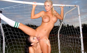 We Live Together tiffani Amazing hot fucking lesbian soccer players get fucked hard after a game in these hot strap on fucking dildo fucking pics