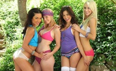 We Live Together hayden 4 hot lesbians fuck each other in this park lesbian group sex movie and pic set