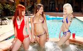 We Live Together brea 3 super hot bikini teens finger fucked hard pool lesbians bikini group sex party