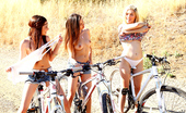 We Live Together lia Three sexy girls ride bikes in the park naked watch nice ass and boobs get sucked and fucked