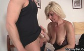 Granny Bet Bombshell blonde granny fucks Eager to try on this young hottie's perfect cock, this broad strips to nothing.