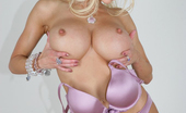 Gina Lynn Busty Blonde Gina Lynn Poses For The Camera In Her Lingerie In This Photo Set