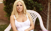 Gina Lynn Gina Lynn Interviewed by Director of her latest DVD in the yard of the shoot house