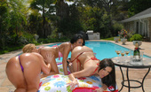 Flower Tucci  72560 These 2 hotties are getttin analed up and down in these steamy poolside anal photos