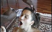 Blacks On Blondes Maren Petite brunette interracial anal & cumeating