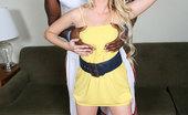 Blacks On Blondes Mina Slim blonde rides a black bull