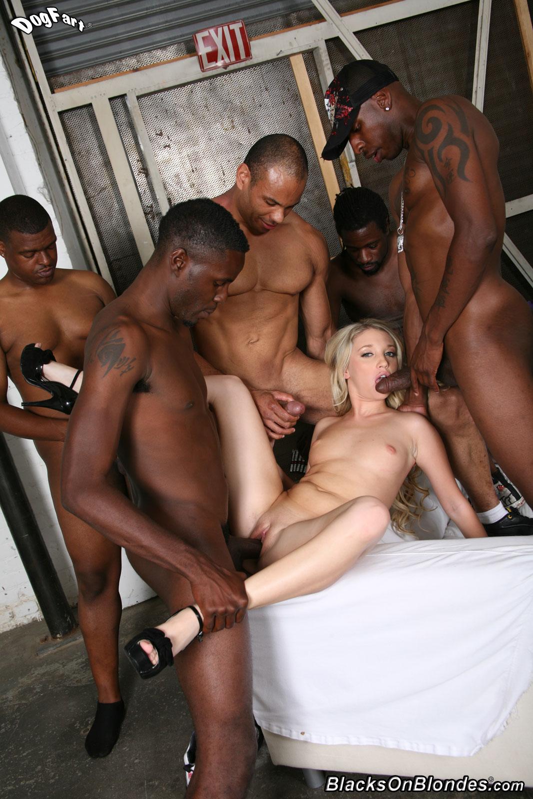 Blond Sucking Big Black Dick