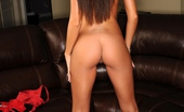 Janessa Brazil Red Hot Lingerie on my Bosses Couch