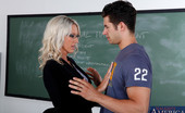 My First Sex Teacher Emma Starr Emma Starr sucks her student's dick before they fuck