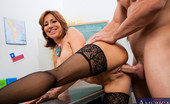 My First Sex Teacher Tara Holiday 75796 Sexy stocking clad brunette sucks dick and gets fucked