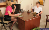 My First Sex Teacher Cory Chase Hot teacher Cory Chase fucks one of her students on her desk and has loud anal orgasms.