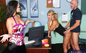 My First Sex Teacher Shyla Stylez 75905 Carmella Bing can't believe that Shyla Stylez would cheat on her ... with a student! And a guy student at that! But if Shyla's getting cock, so is Carmella and that Johnny is one lucky man. Tit for tat, ladies, or is that tit for cock?