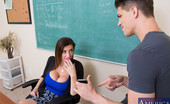 My First Sex Teacher Sara Jay 75924 Bruce failed Professor Jay's final exam and came in to see if there was any extra credit available that he can take so he doesn't fail the class. Professor Jay can't believe he failed when he had three weeks to study and lets him know that