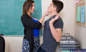 My First Sex Teacher Sara Jay Bruce failed Professor Jay's final exam and came in to see if there was any extra credit available that he can take so he doesn't fail the class. Professor Jay can't believe he failed when he had three weeks to study and lets him know that