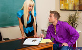 My First Sex Teacher Nikita Von James 75934 Bill just can't seem to pass Ms. Von James' class. He's taken the class three times and still gets every question wrong on the final. He reveals to her that if he actually does pass her class he won't be able to see her anymore. She le