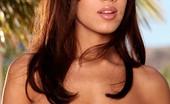 Digital Desire Isis Taylor pulls aside her blue panties and lets you peak inside