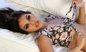 Digital Desire Adrianna Lema unties her flowery top