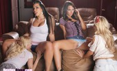 Briana Jordan,Aaliyah Love,Cherie DeVille,Destiny Dixon Movie Night Foursome Brianna Jordan and I were at the movies flirting and being little bitches to Aaliyah Love and Cherie DeVille. We started off by throwing popcorn at them to get there attention lol then the fun begins. We start off with some teasing and kissing then things