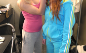 Marie McCray behind the scenes with girlfriend Jeanie