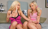Monster Curves gina Uper hot blonde duo jessica and gina bounce on a cock in these hot bubble butt cum splashing pics
