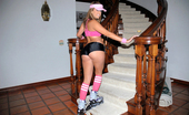 Monster Curves katie 79554 Amazing big booty rollerblade babe strips out of her hot outfit and takes a hard cock deep in her wet pussy in these hot big booty big tits fucking pics