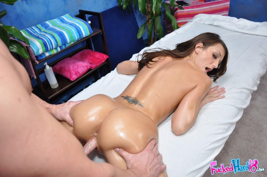 Hot Blonde Lesbian Oil Massage