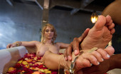 Foot Worship Exotic Goddess Lea Lexis demands extremely foot worship and her male slave to fuck her ass to orgasm in return she gives him a footjob of a lifetime!