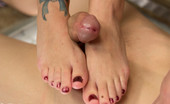 80137 Foot Worship Four sexy vamps dominate footslave demanding he worship tier feet and give them orgasms before he's allowed a footjob and cum on all their toes!